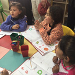 Refugee camp kindergarteners