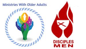Older adult and disciples men logos